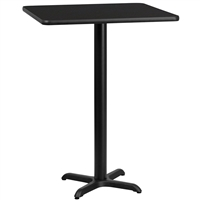 "30"" Square Table w/ X-Base- TALL"