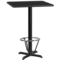 "30"" Square Table w/ X-Base & Footring - TALL"