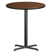 "36"" Round Table w/ X-Base- TALL"