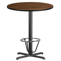 "36"" Round Table w/ X-Base & Footring - TALL"