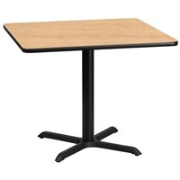 "36"" Square Table w/ X-Base"