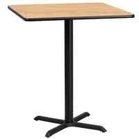 "36"" Square Table w/ X-Base- TALL"