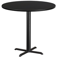 "42"" Round Table w/ X-Base- TALL"