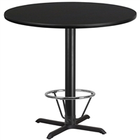 "42"" Round Table w/ X-Base & Footring - TALL"