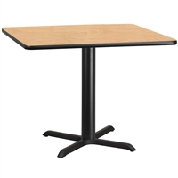 "42"" Square Table w/ X-Base"