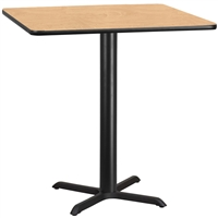 "42"" Square Table w/ X-Base- TALL"