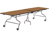 Virco Mobile Cafeteria Tables - Folding - 30x144