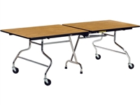 Virco Mobile Cafeteria Tables - Folding - 30x96