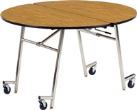 "Virco Mobile Cafeteria Tables - Folding - 48"" Round"