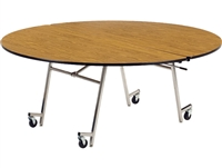 "Virco Mobile Cafeteria Tables - Folding - 72"" Round"