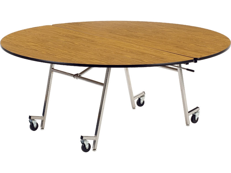 "cafeteria tables - folding - 72"" round"
