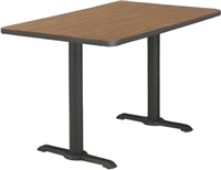 Cafe Tables - 30x48 Rectangle w/ Bi Point Bases