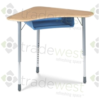 ZUMA Student Desk - Boomerang Shape - Sitting Height