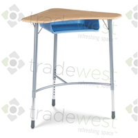 ZUMA Student Desk - Boomerang Shape - Standing Height