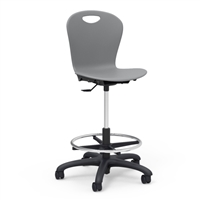 Zuma Student Swivel Lab Stool w/footring