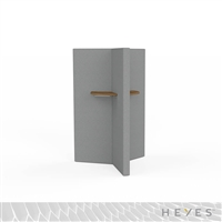 Heyes Y-Wall - Standing Height with Small Worksurfaces