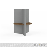 Heyes Y-Wall - Sitting Height with Large Worksurfaces