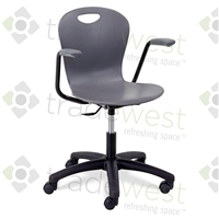 "ZUMA Student Swivel Chairs - 18"" Large WITH ARMS"