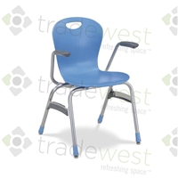 "Virco ZUMA Arm Stacking Chairs - 18""H"