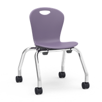 "Virco ZUMA Mobile Stacking Chairs - 13""H"