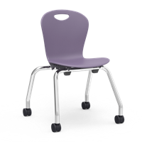 "Virco ZUMA Mobile Stacking Chairs - 15""H"