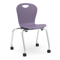 "Virco ZUMA Mobile Stacking Chairs - 18""H"