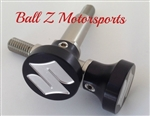 "Black/Silver Engraved ""S"" Logo Brake & Clutch Lever Bolts"