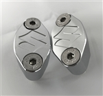 "Hayabusa GSXR 1000 Chrome Engraved ""S"" Logo Brake & Clutch Mastercylinder/Reservoir Clamps"