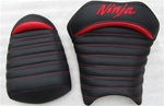 "250R Ninja ""New Image"" Carbon Fiber Red Pin & Tuck Custom Driver and Passenger Seats"