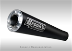 "Brock's Performance Short Meg Black 14"" Muffler Kawasaki ZX-14 (06-11) Exhaust System"