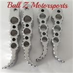 Custom Chrome Ball Cut Suzuki Hole Shot Front & Rear Foot Pegs