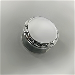 Chrome Exhaust Hanger Peg Plug w/Ball Cut Edges