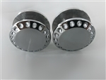 2- Chrome Hole Shot Exhaust Hanger Peg Plugs