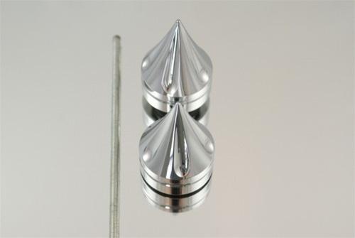 CBR600  REAR AXLE CAP SPIKES  CHROME