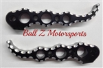 Custom Black Anodized & Silver Ball Cut Suzuki Hole Shot Rear Foot Pegs Chrome Hayabusa GSXR Rear Foot Pegs