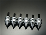 6  Piece Chrome Grooved  5mm Collar Small Fairing Spike Bolts