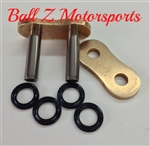 530ZVX3-MLJ/G EK ZVX3 Rivet Masterlink for X-Ring 530 Pitch Gold Premium Motorcycle Chains