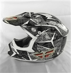 Fly Racing Trophy II Black/White/Red X-Small XS (53-54) Offroad MX ATV UTV Helmet