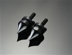 2- Black Anodized Silver Grooved Windscreen Spike Bolts