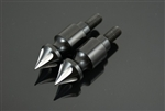 Black/Silver Grooved  Hayabusa Custom Billet Grooved Spike Cargo Bolts