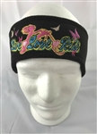 Live Love Ride Black/Pink/Blue Embroidered Fleece Biker Earband