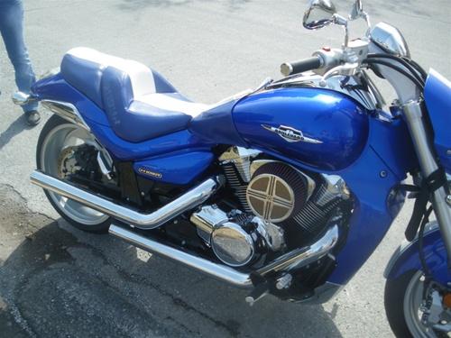Suzuki M109r Custom Shaped And Covered Blue Led Loglow