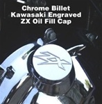 Bling Bling Chrome Kawasaki ZX Engraved Oil Filler Cap