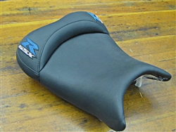 """New Image"" Black/Blue & Silver GSXR 600/750/1000 Custom Shaped & Covered Front Seat"