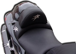 """New Image"" Custom Hayabusa Front Seat w/Chrome Embroidering & Zippered Removable Hump Pad"