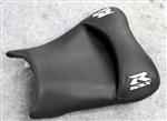 "Carbon Fiber/Silver GSXR 600/750/1000 ""New Image"" Custom Shaped & Covered Front Seat"