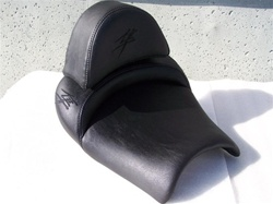 """New Image"" Custom Hayabusa Front Seat w/Black Embroidering & Zippered Removable Hump Pad"