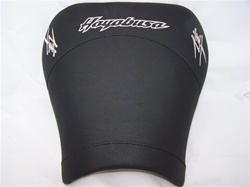 """New Image"" Custom Covered & Embroidered Hayabusa Driver Gel Seat"