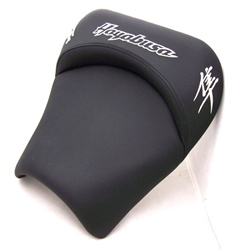 """New Image"" Hayabusa Custom Shaped & Embroidered Front Seat w/Chrome Embroidering"