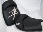 Hayabusa Front & Rear Seats Black Ostrich w/Chrome Embroidering